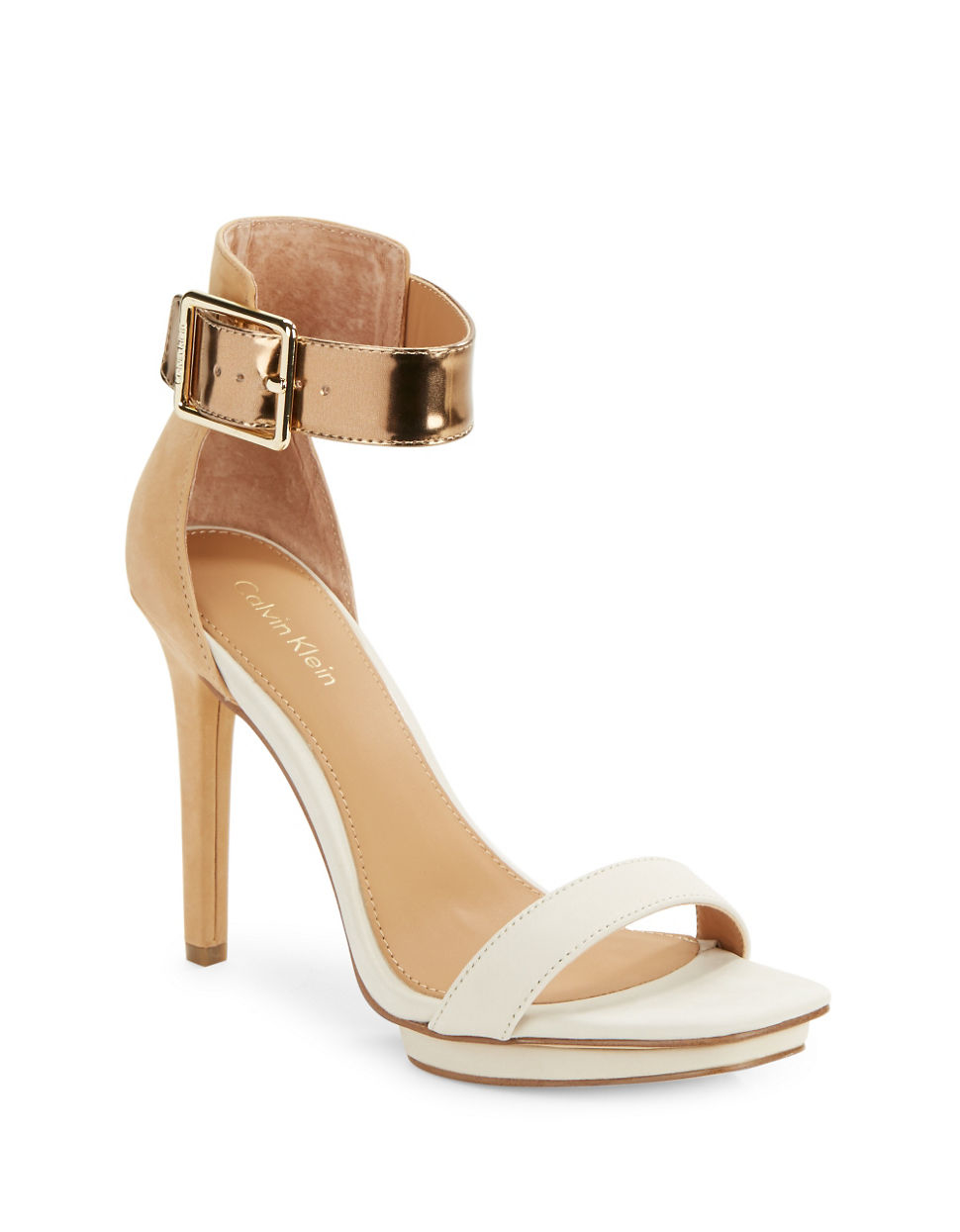Calvin Klein Vable Beaded High Heel Sandal TaL0Vdgu