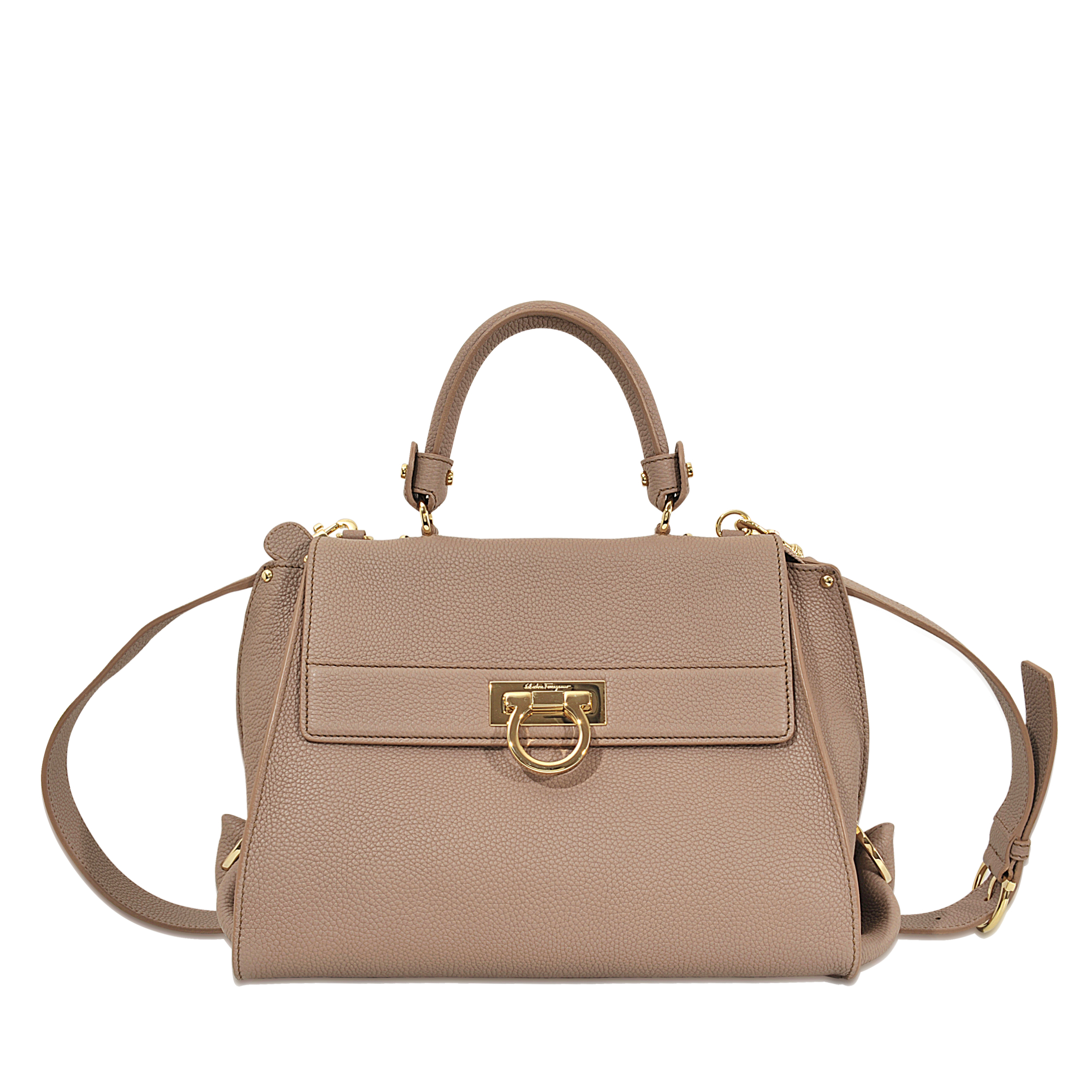 f78a39533a5f Lyst - Ferragamo Sofia Medium Top Handle Bag in Natural