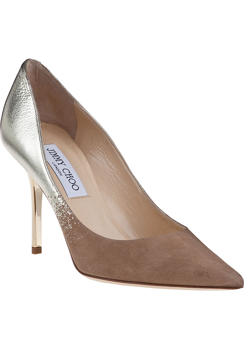 8ea591c4346a Lyst - Jimmy Choo Agnes Pump Nude Suede in Natural