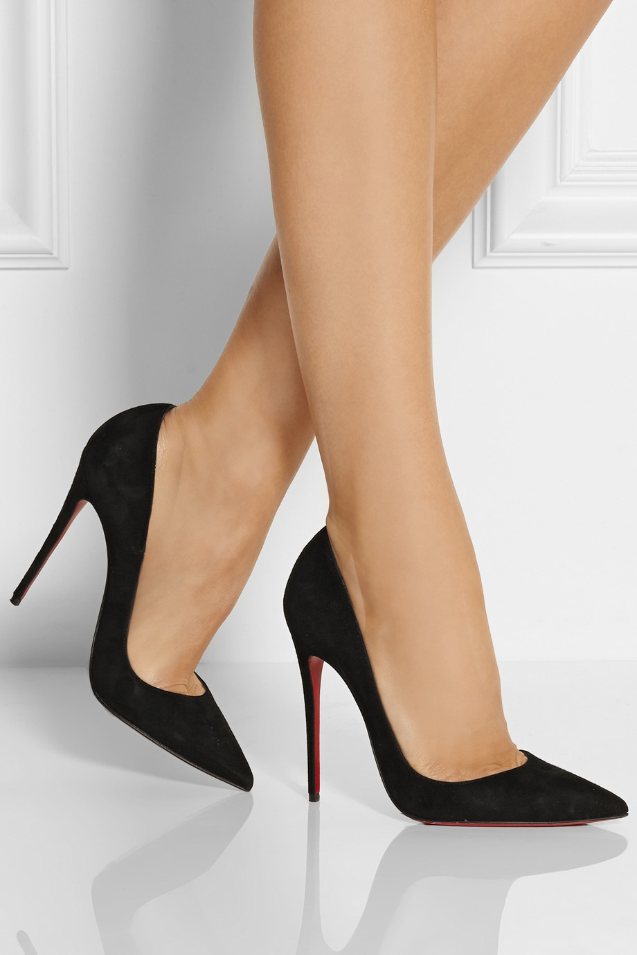 Christian Louboutin So Kate 120 Suede Pumps In Black Lyst