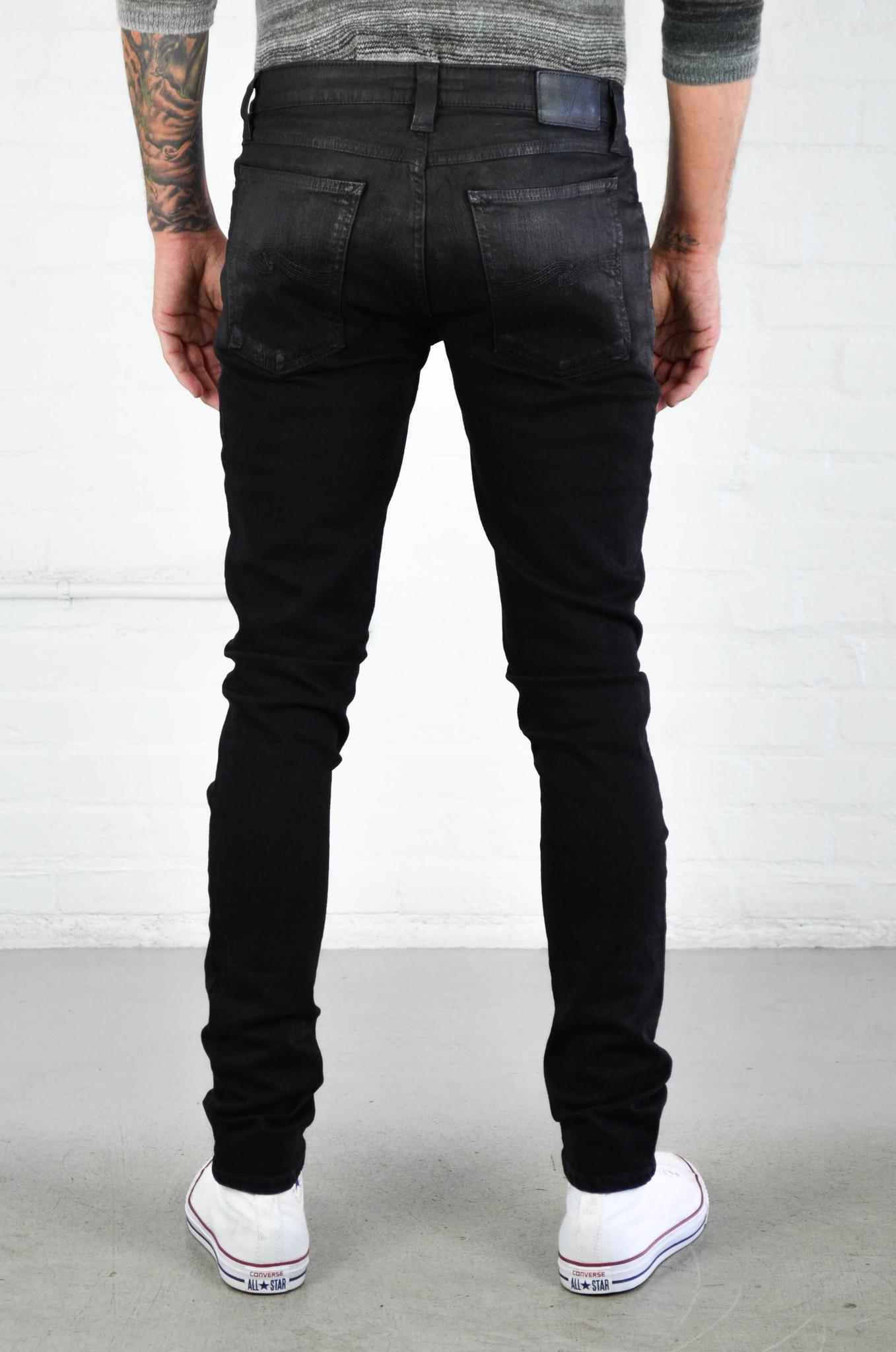 Nudie jeans Skinny Lin Shiny Black in Black for Men | Lyst
