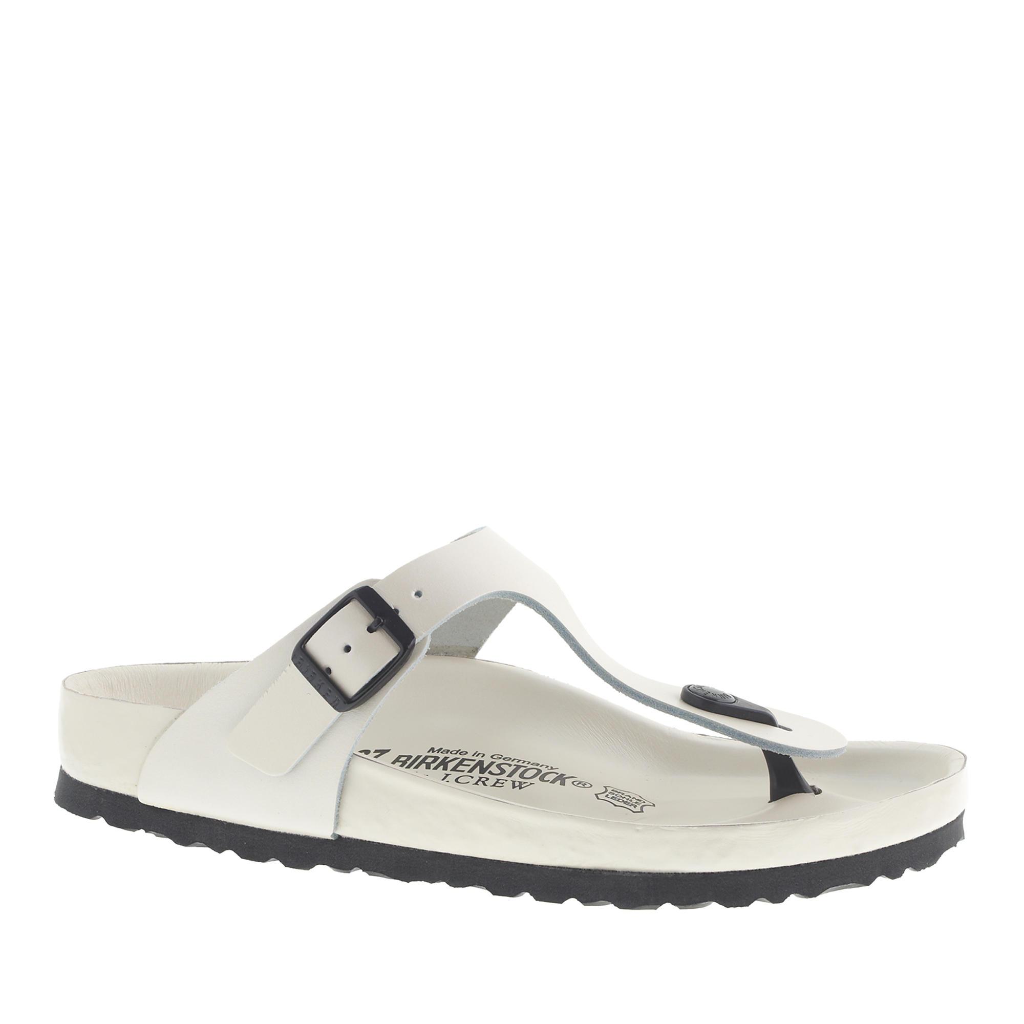 6ba72fcc3acf Lyst - J.Crew Women s Birkenstock Gizeh Exquisite Sandals in White