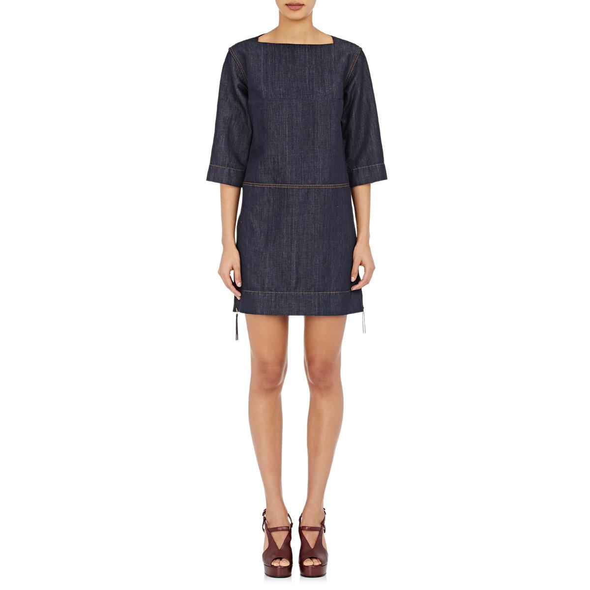 Perfect Womens Light Wash Blue Denim Sleeveless Tie Waist Long Shirt Dress