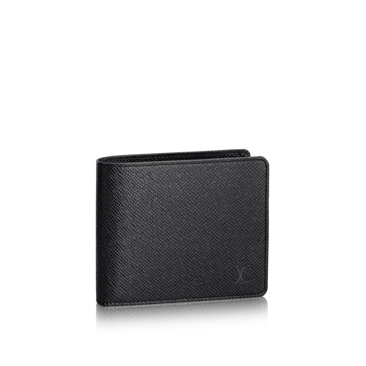 louis vuitton florin wallet in black for men ardoise lyst
