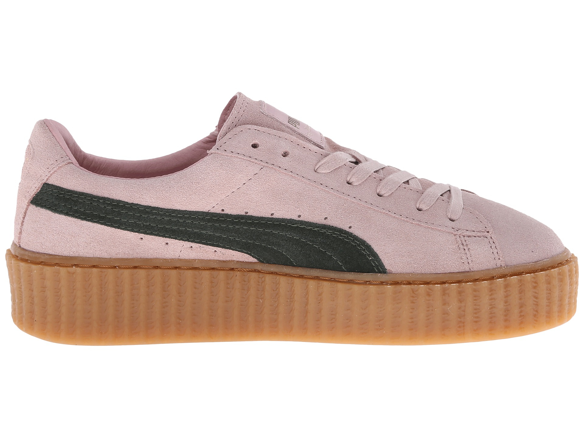 reputable site 6b388 c519c Women's Pink Rihanna X Suede Creepers