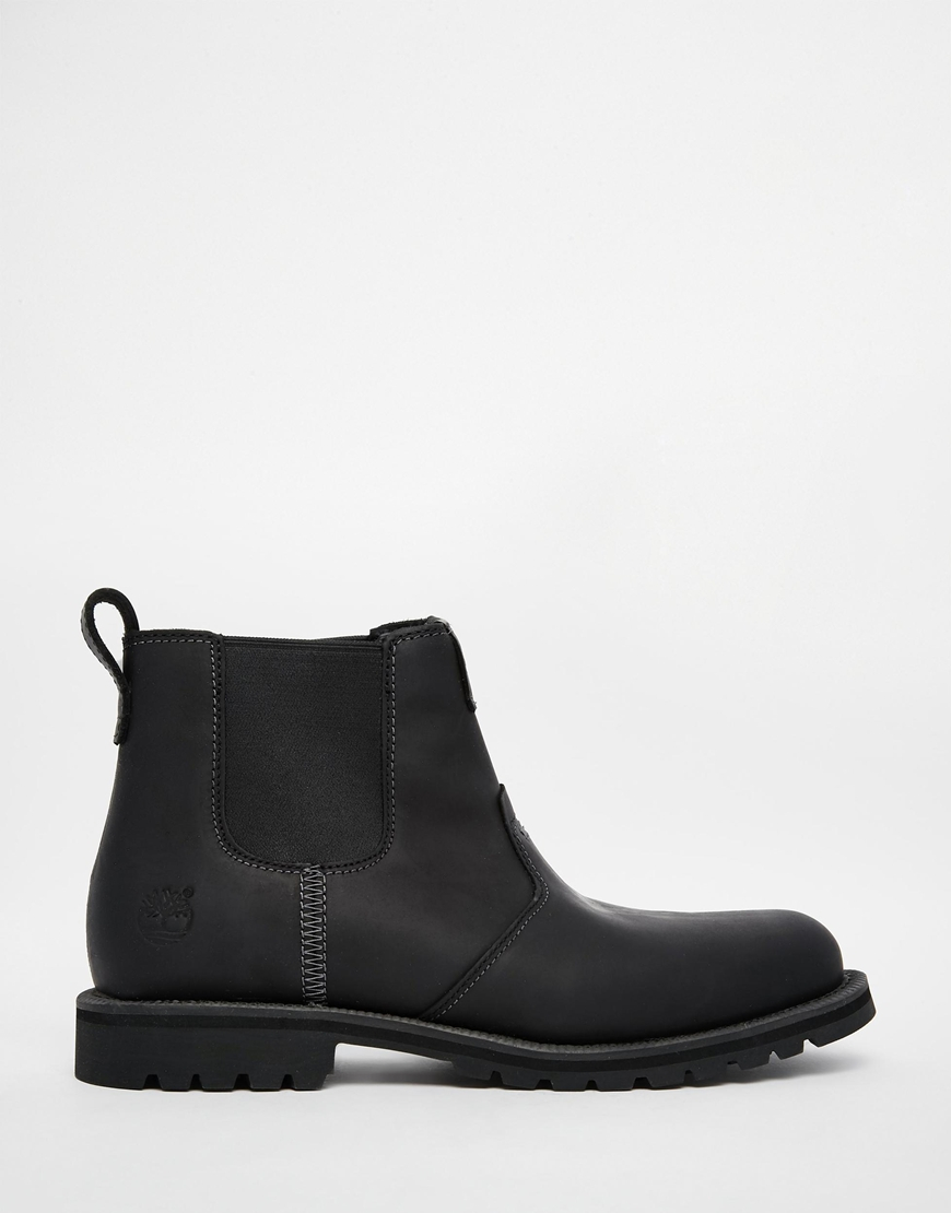 lyst timberland grantly chelsea boots in black for men. Black Bedroom Furniture Sets. Home Design Ideas