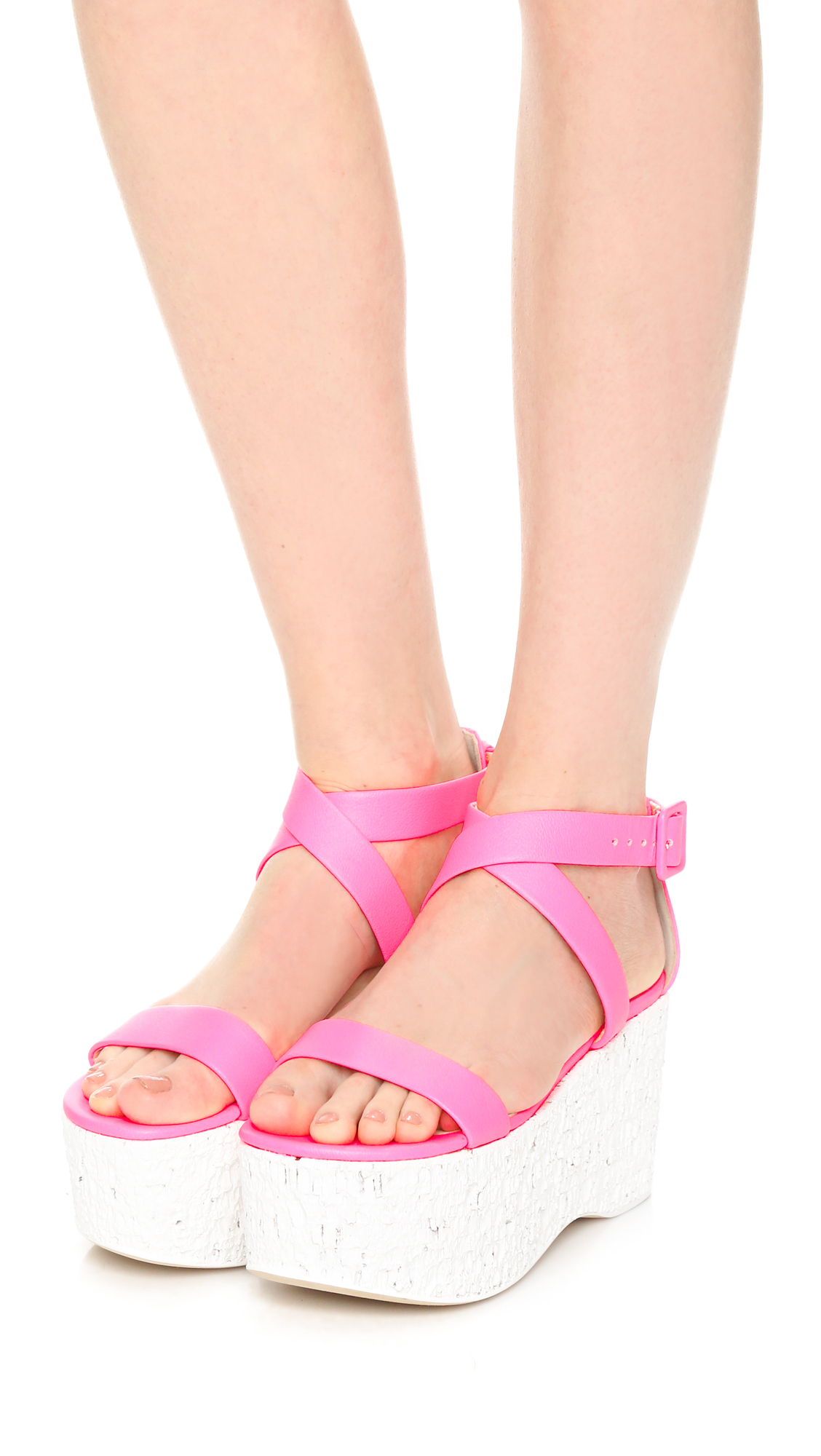 e0bf2359d Lyst - Giuseppe Zanotti Leather Platform Sandals in Pink