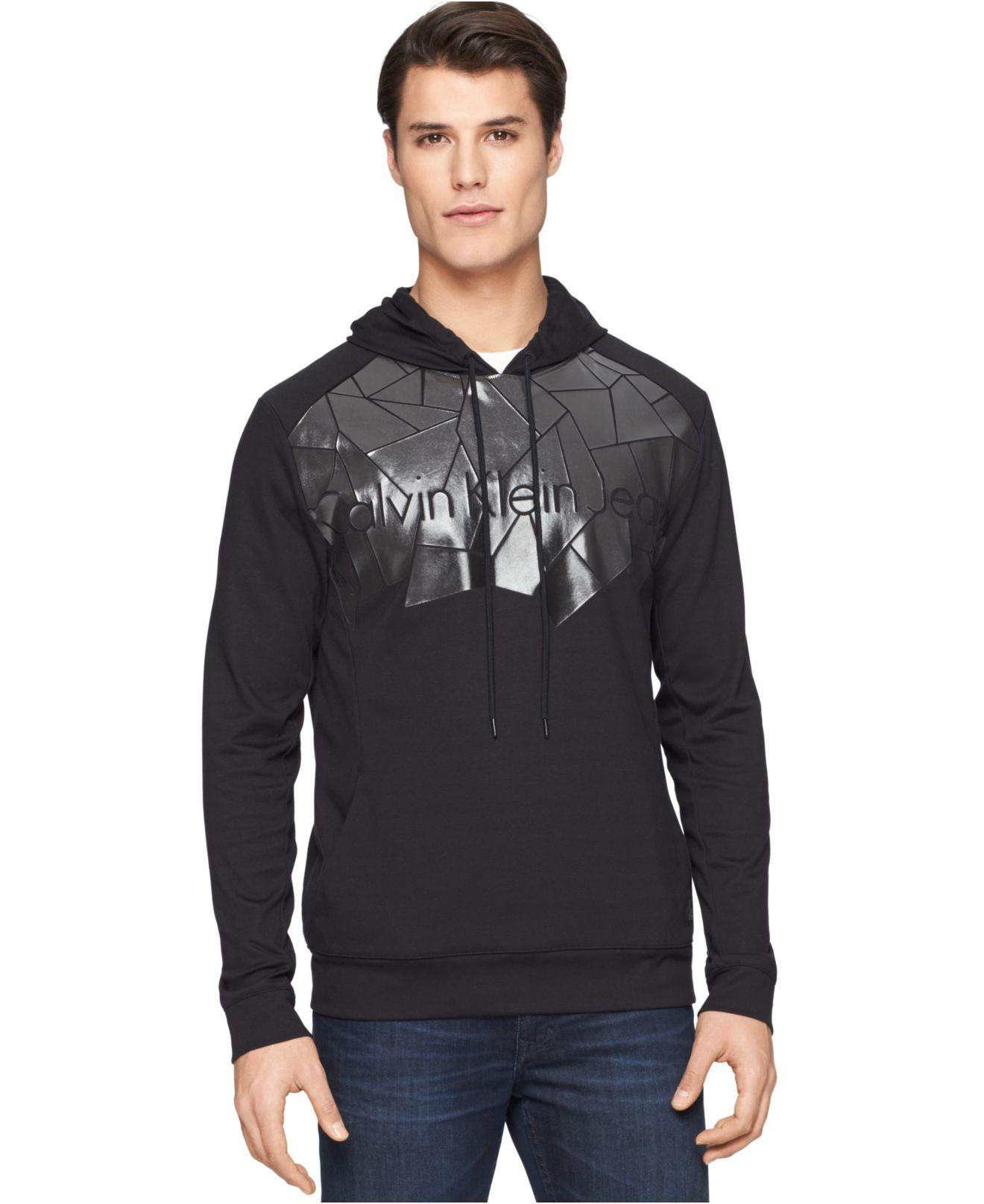 calvin klein jeans blue depths hoodie in black for men lyst. Black Bedroom Furniture Sets. Home Design Ideas