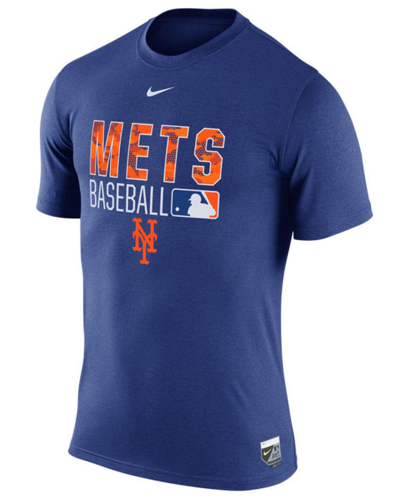 Nike Men 39 S New York Mets Legend Team Issue T Shirt In Blue