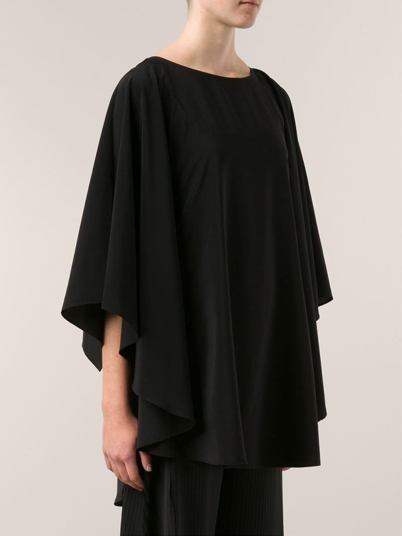 issey miyake loose top in black lyst