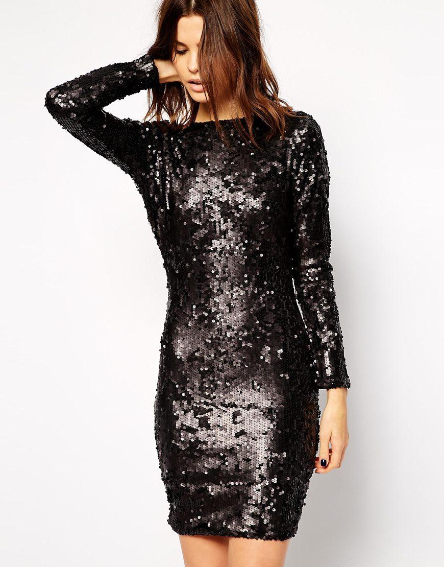 f9d75b62d651 lipsy black and gold sequin dress – Little Black Dress | Black Lace ...