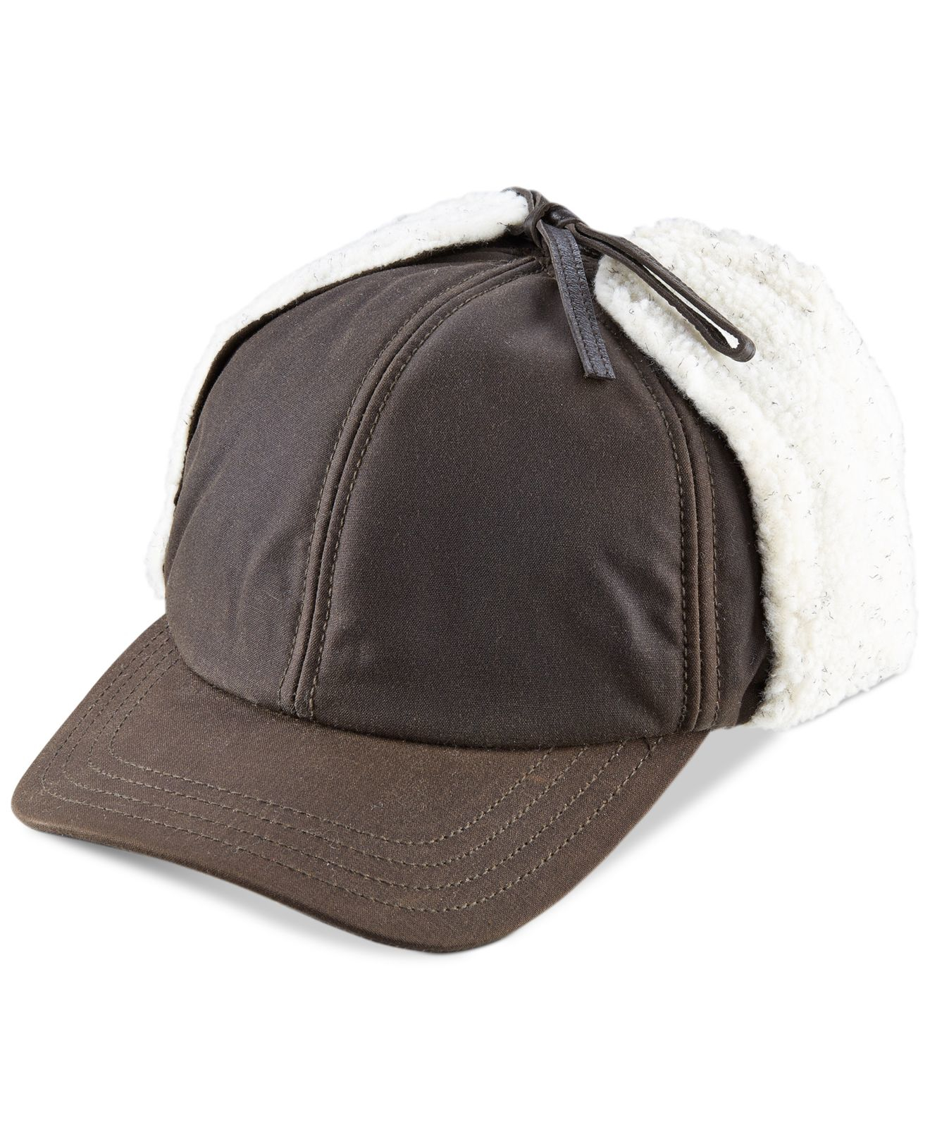 32495d6e5 Lyst - Woolrich Waxed Cotton Winter Trapper Cap With Sherpa Lined ...