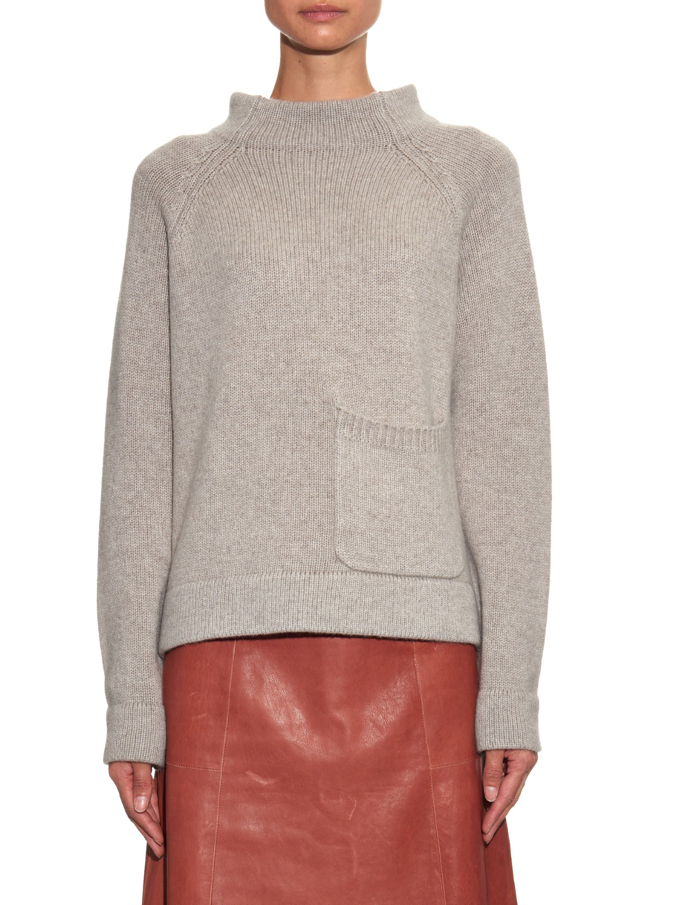 Joseph Patch-pocket Cashmere Sweater in Natural | Lyst