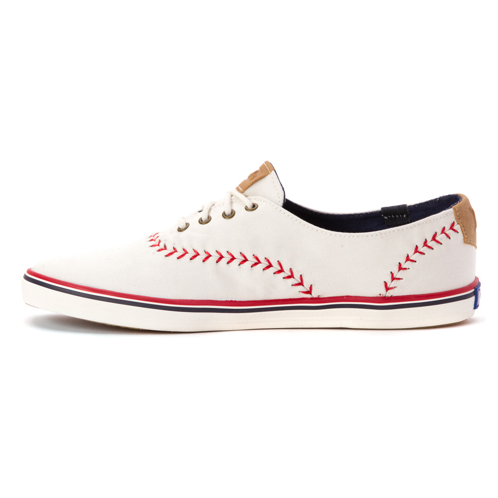 keds chion pennant sneaker in white white canvas