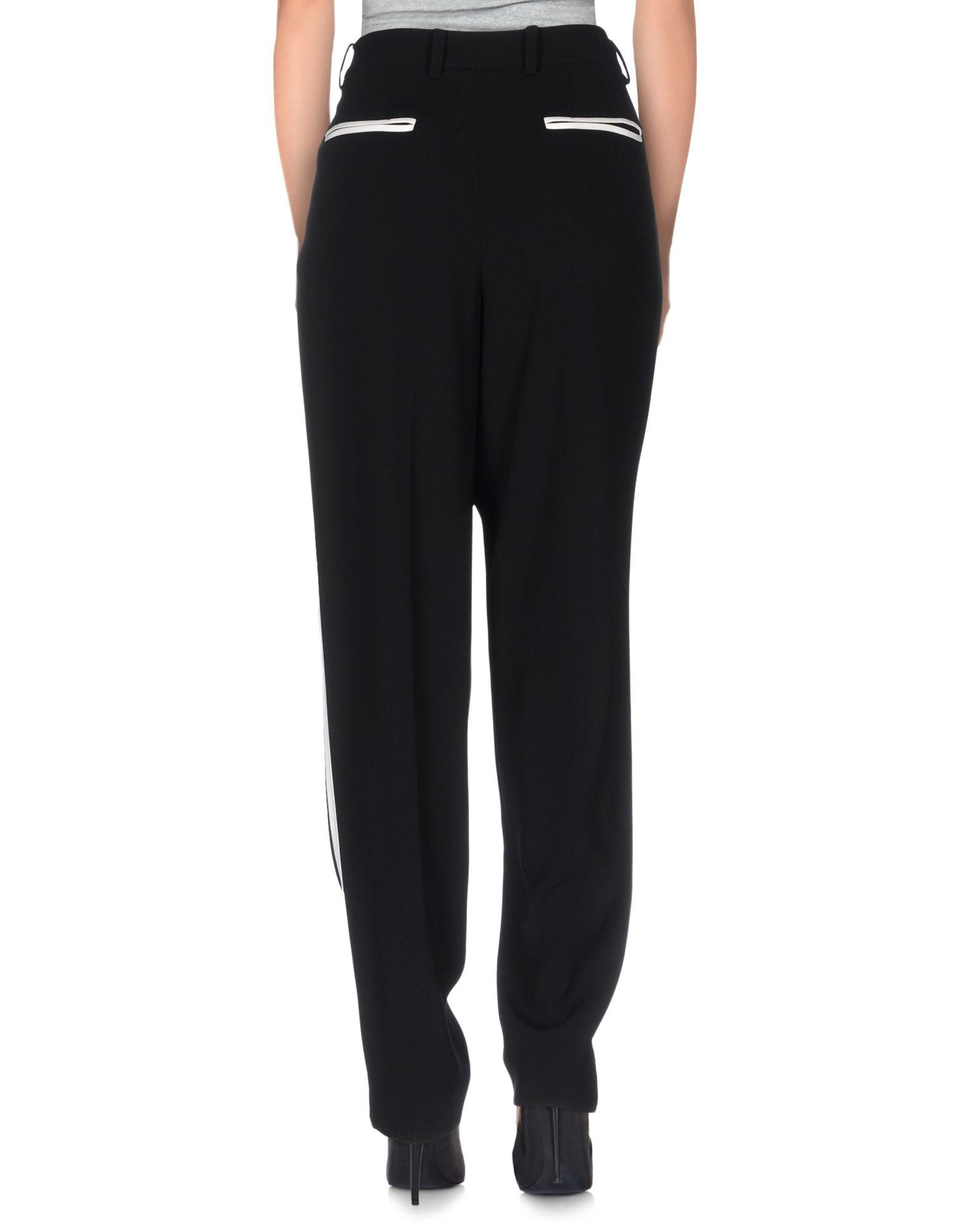 dkny casual trouser in black lyst