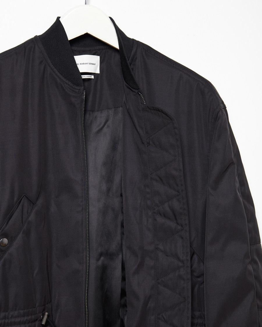 147552ecb Étoile Isabel Marant Black Amba Bomber Coat