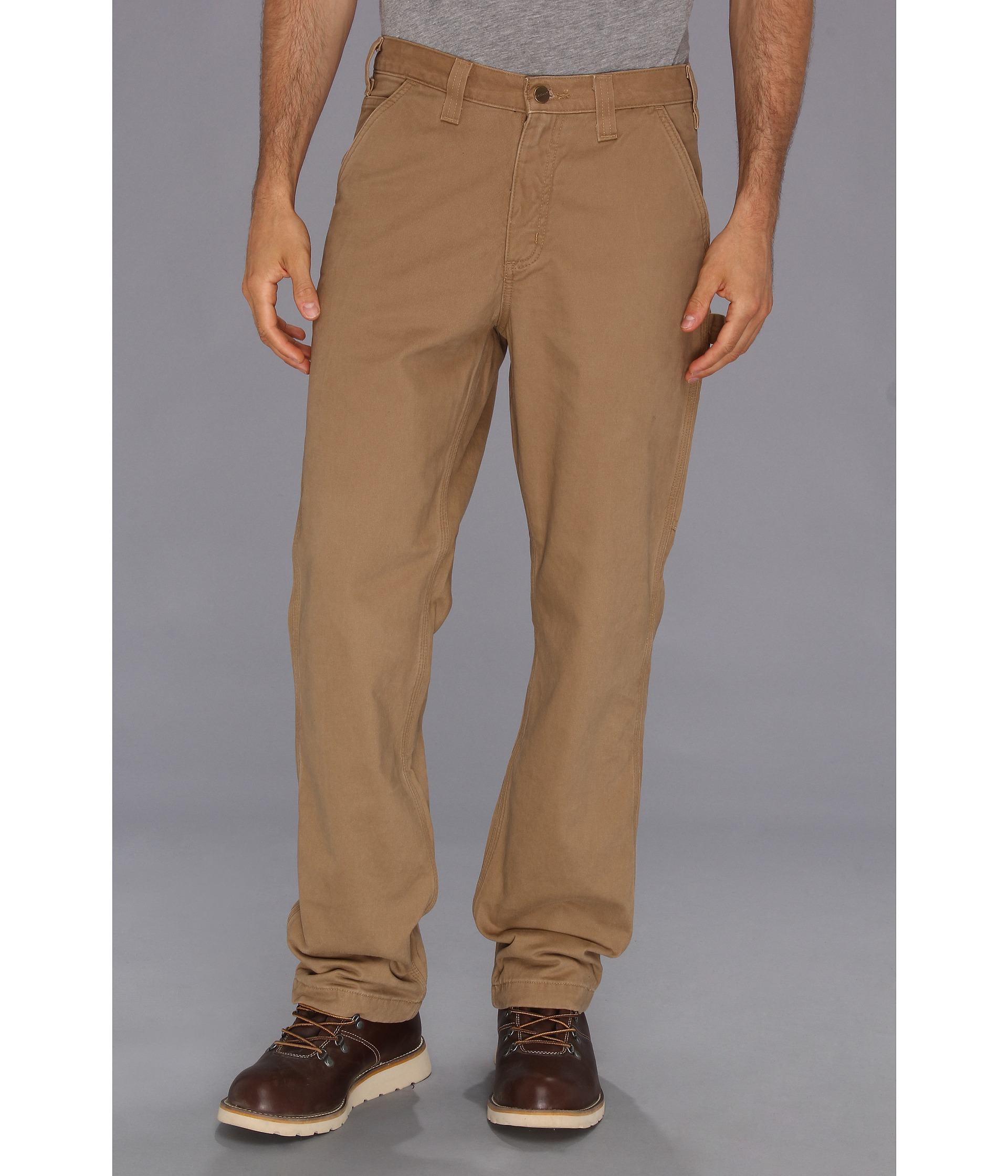 c87c856b Carhartt Washed Twill Dungaree Flannel Lined Pant in Natural for Men ...