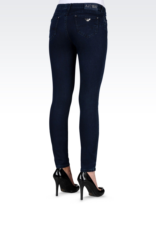 armani jeans push up dark wash jeans in blue dark blue. Black Bedroom Furniture Sets. Home Design Ideas