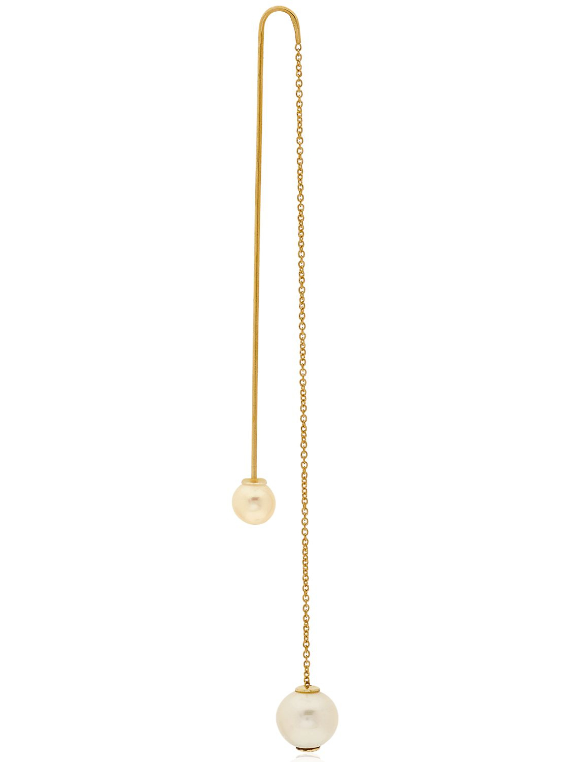 18kt gold Fishing For Compliments pearl earring - Metallic Delfina Delettrez xiiKHIpAo