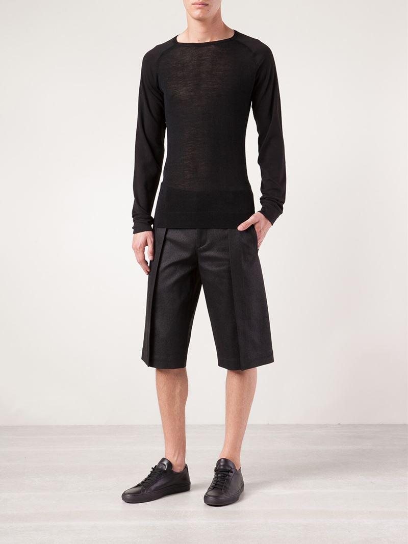 8d1f643a1d Gareth Pugh Exaggerated Pleat Shorts in Black for Men - Lyst