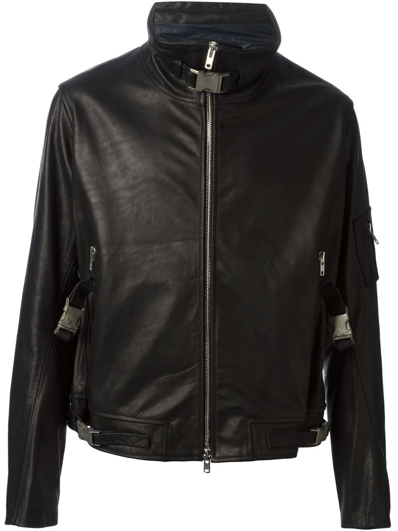 Lyst Obscur Zip Up Fitted Jacket In Black For Men