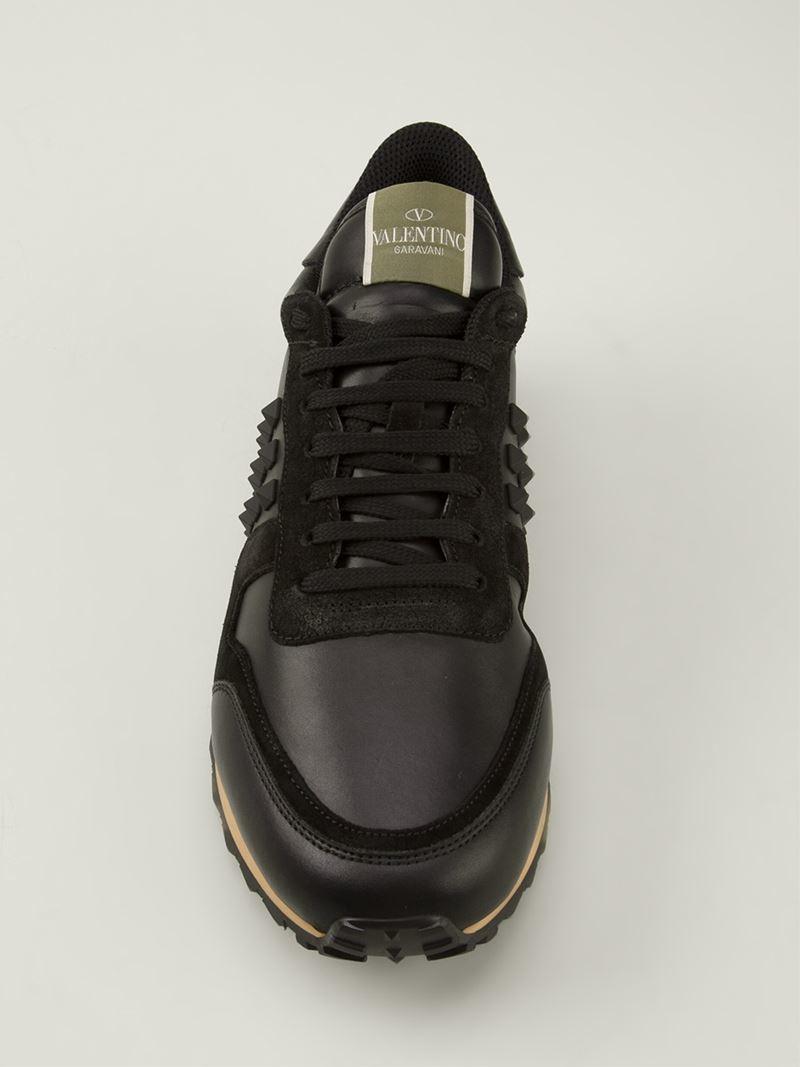 Valentino 'Rockstud' Trainers in Black