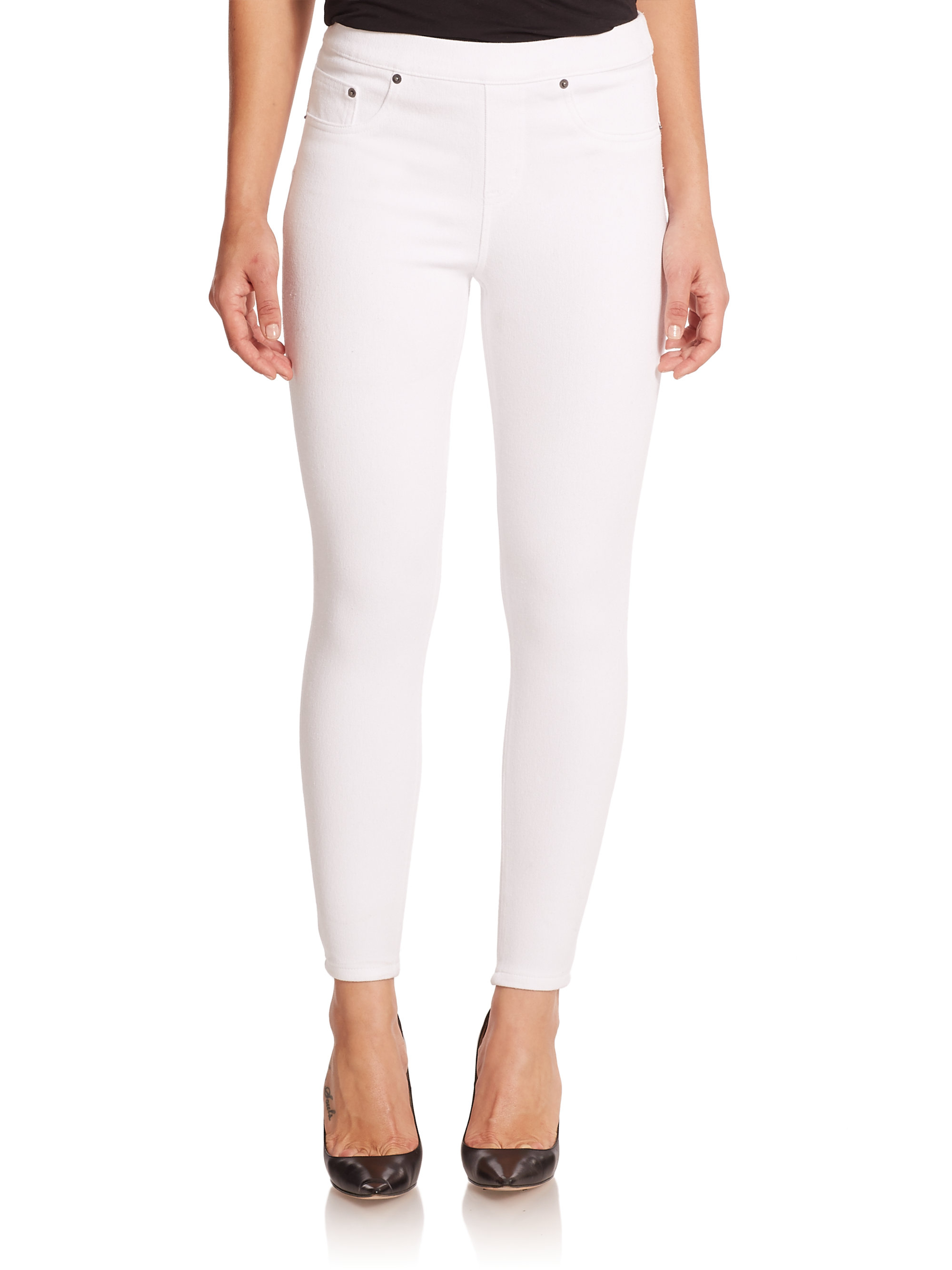 Lyst Spanx Ready To Wow Denim Ankle Leggings In White
