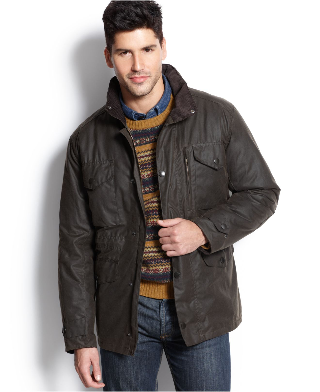 Barbour Sapper Jacket >> Lyst - Barbour Sapper Waxed Jacket in Green for Men