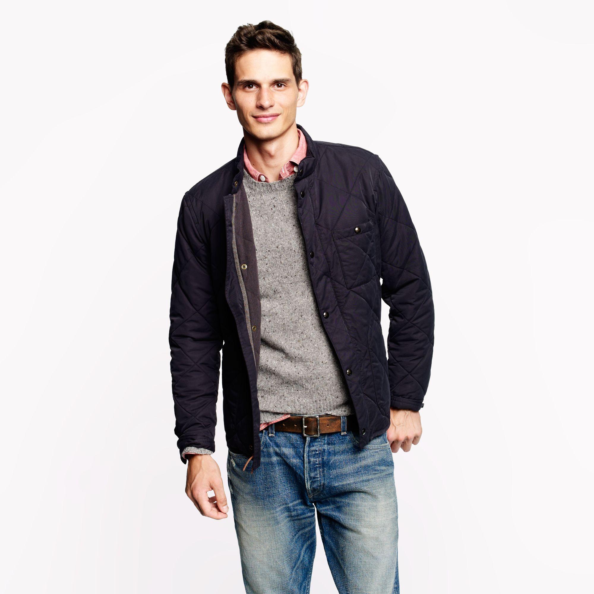 Sussex quilted jacket in blue for men vintage navy for Jcrew com
