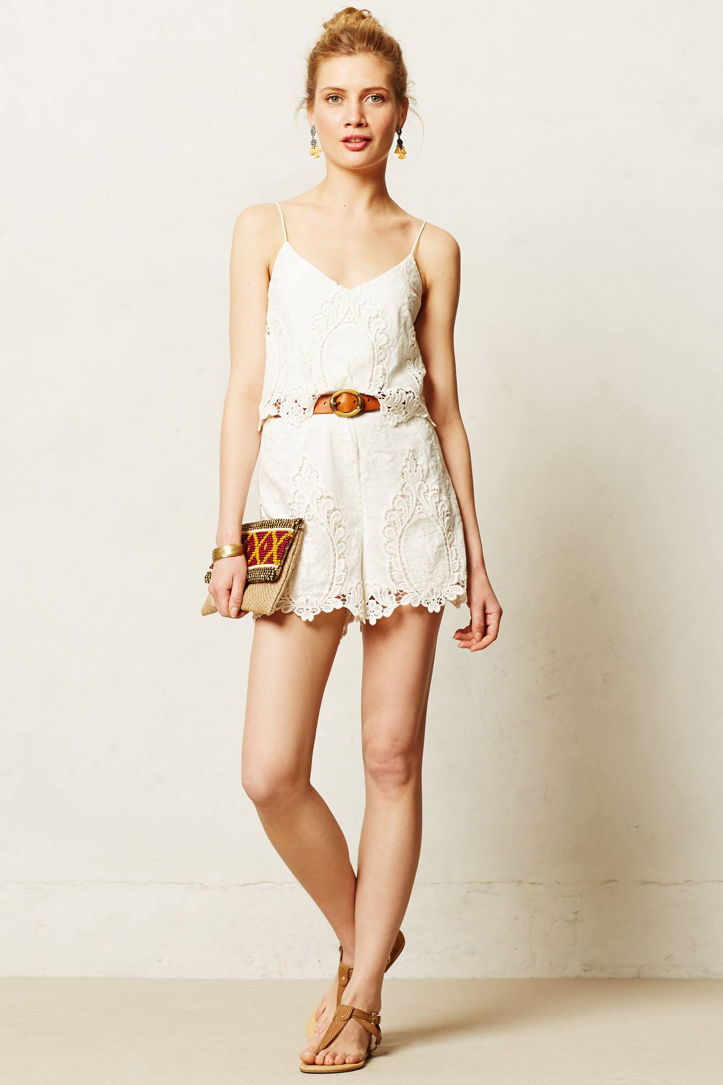 Lyst Dolce Vita Tiered Lace Romper In White