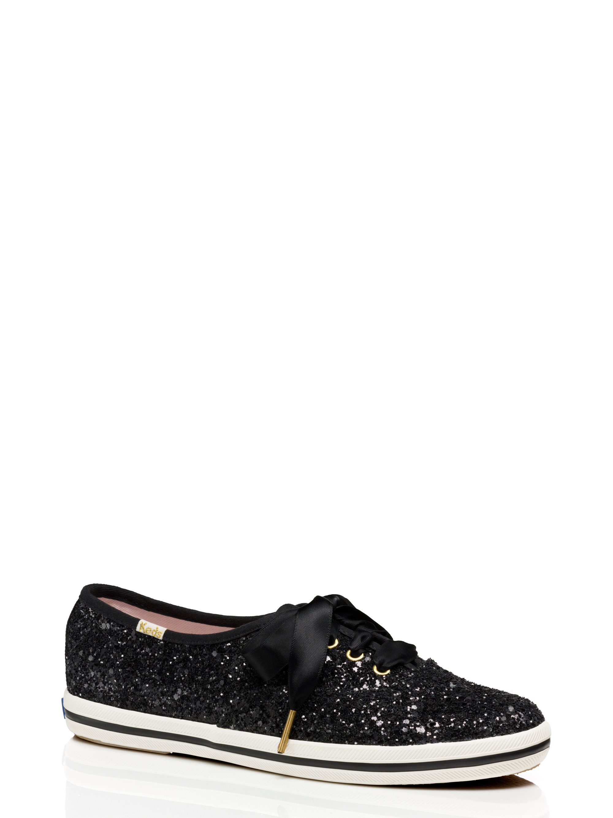 kate spade canvas keds for glitter sneakers in black lyst