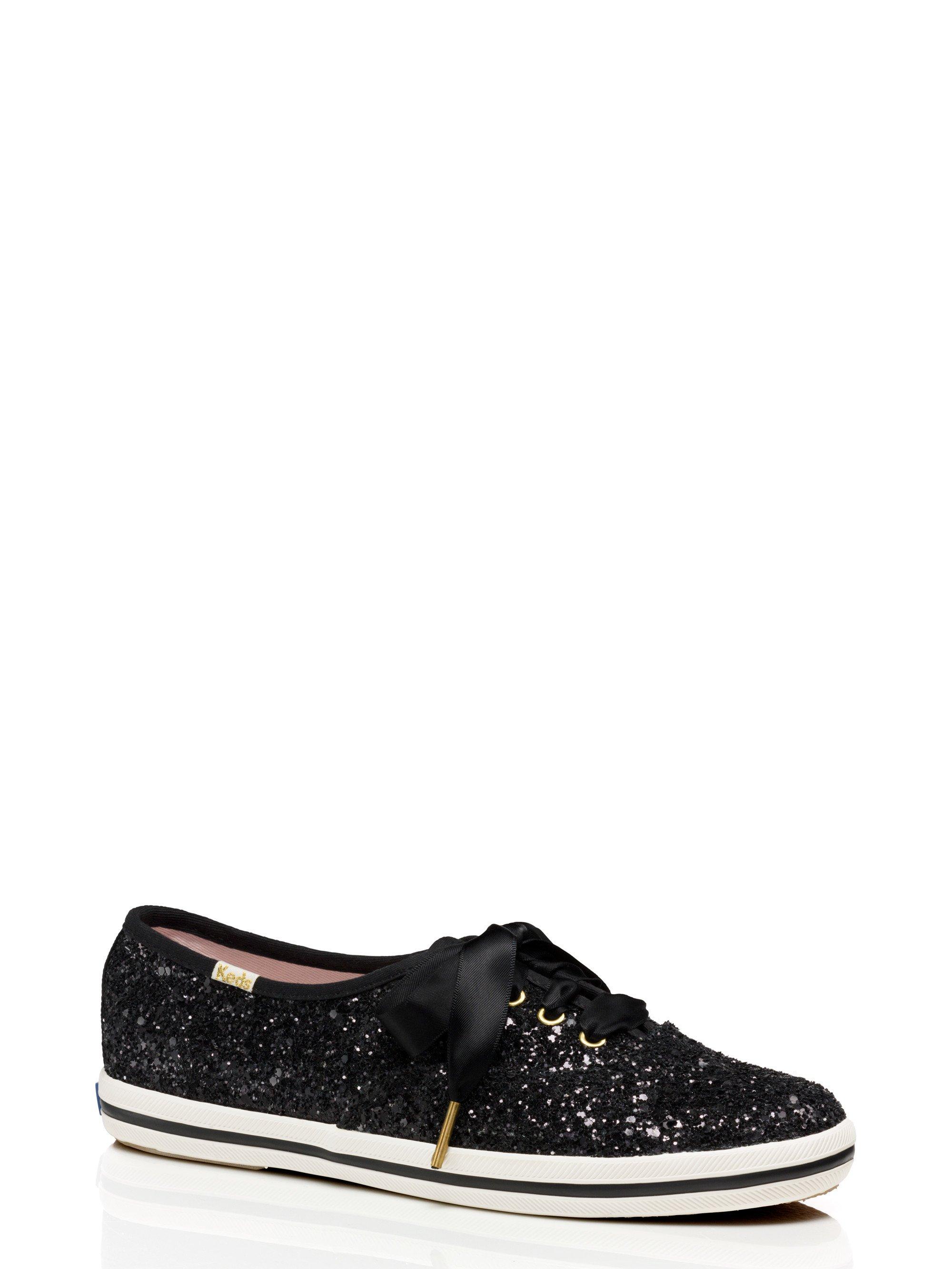 Glitter Tennis Shoes Black