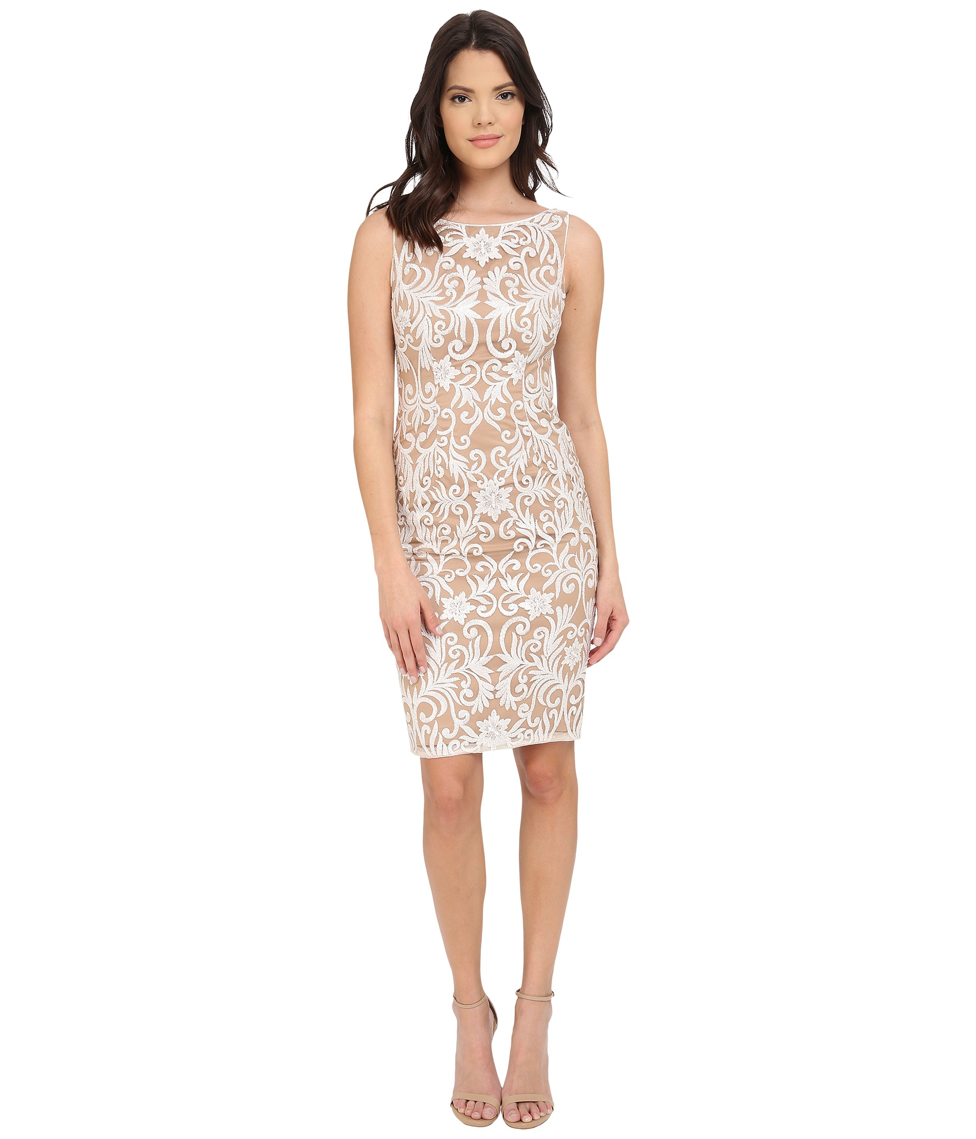 Women S Adrianna Papell Sequin Lace Dress Pictures to pin ...