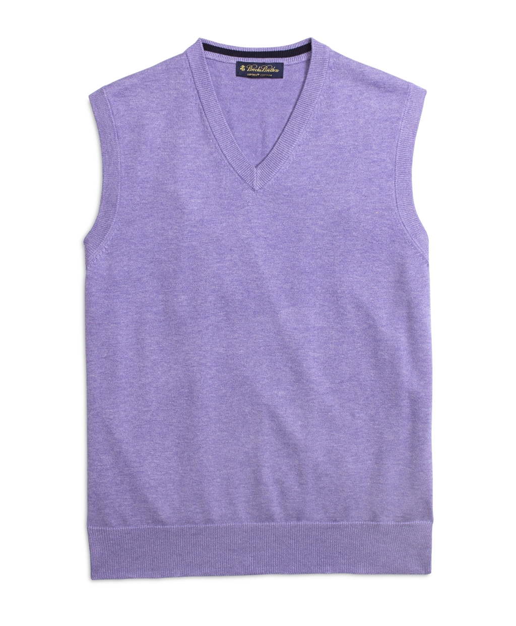 Brooks Brothers Supima 174 Cotton Vest In Purple For Men Lyst