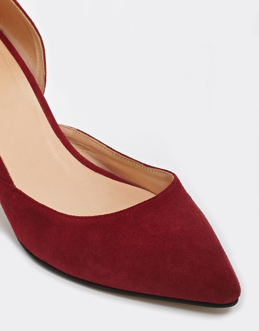 79e6dc4b2e5 Lyst - Ganni Janet Suede Kitten Heel Shoes in Red