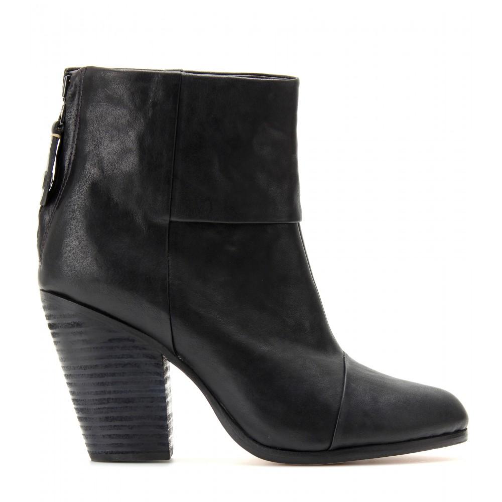 Rag & Bone Classic Newbury Leather Ankle Boots in Black