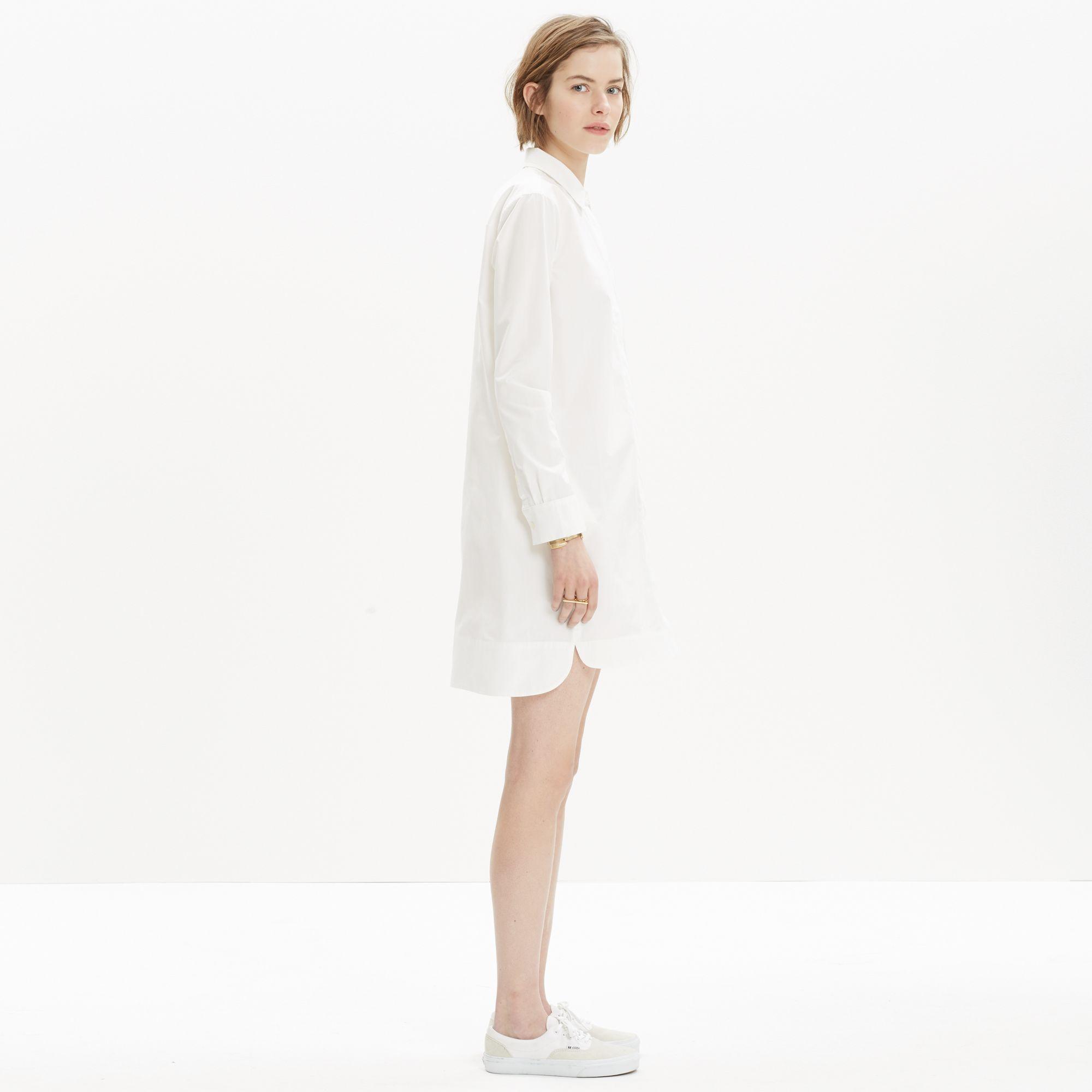 3b7dcb63207 Madewell Courtyard Shirtdress in White - Lyst