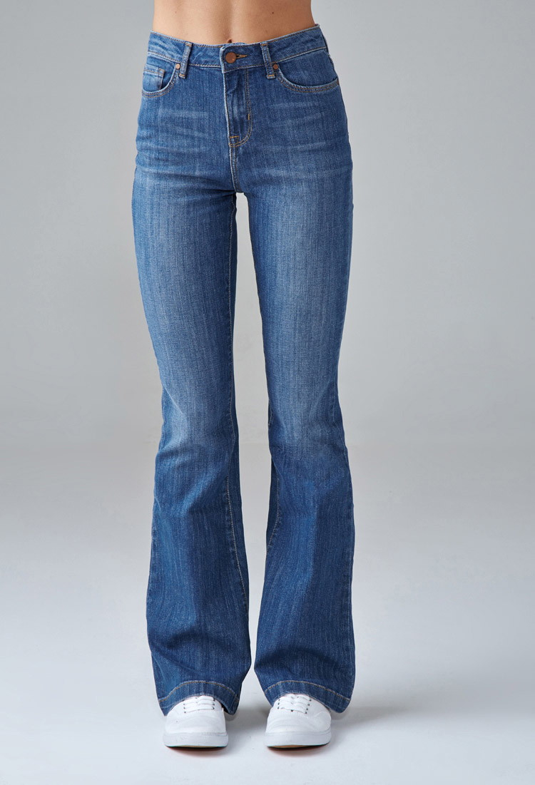 Forever 21 High-waisted Flare Jeans in Blue | Lyst