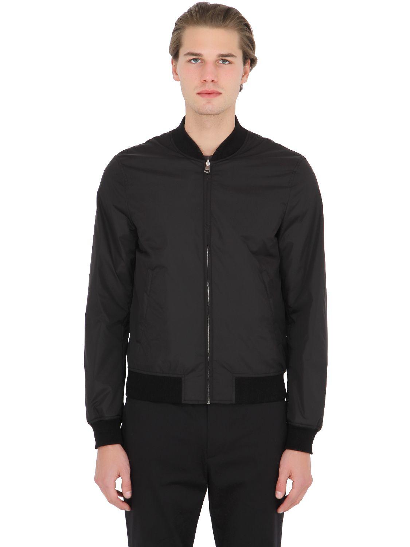 8af9b8d6868a Lyst - Gucci Reversible Nylon Jacquard Bomber Jacket in Black for Men
