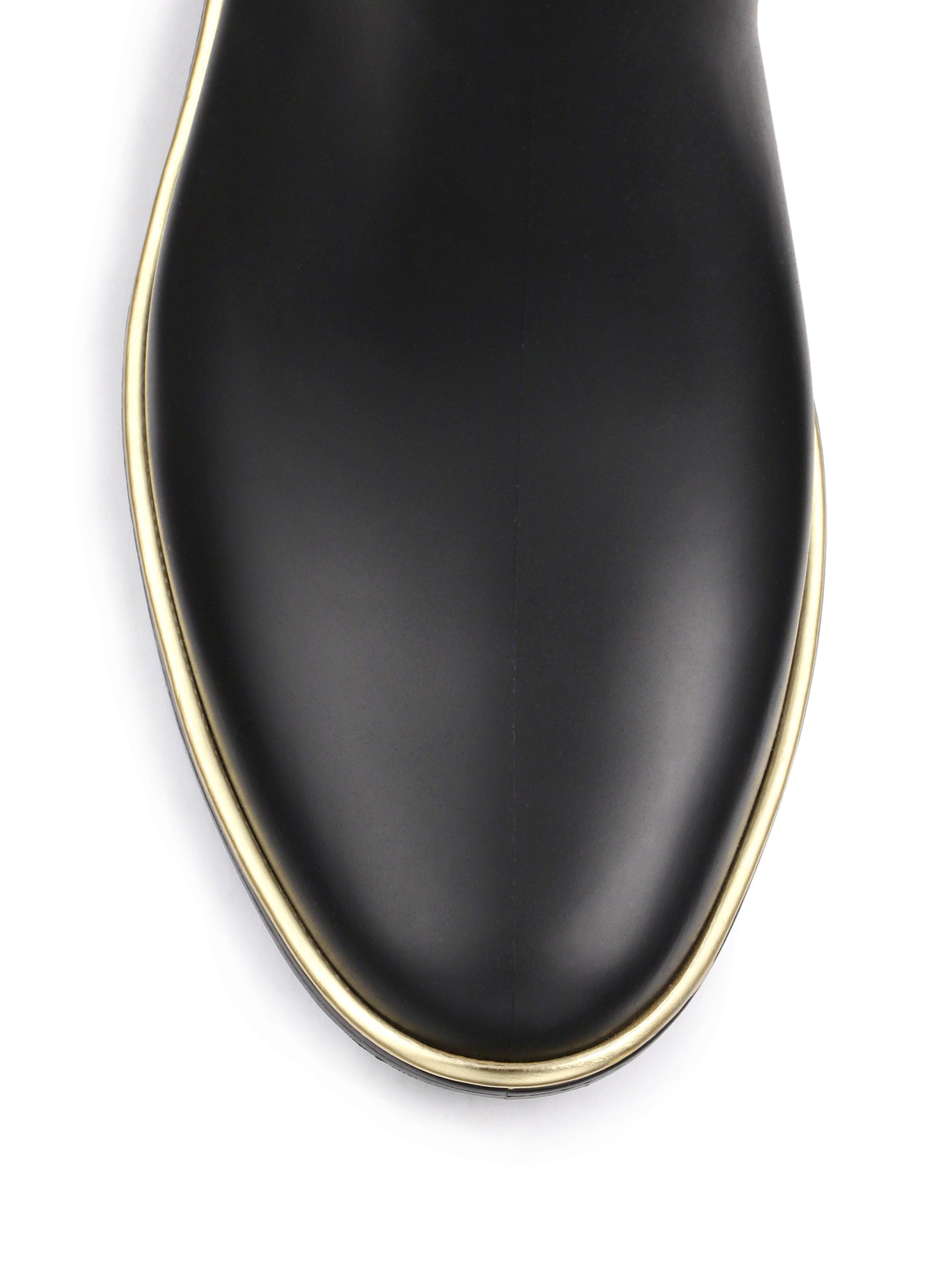 Kate Spade Sedgewick Rubber Chelsea Rainboots In Black - Lyst-7466