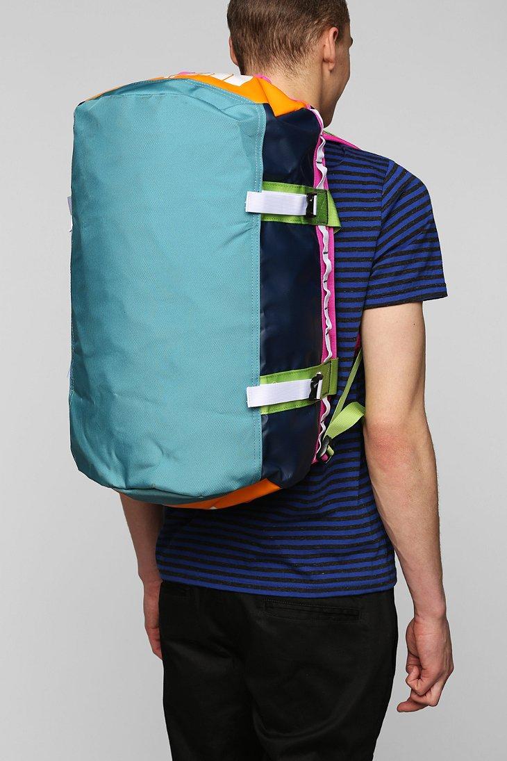the north face basecamp small duffle bag in blue for men. Black Bedroom Furniture Sets. Home Design Ideas