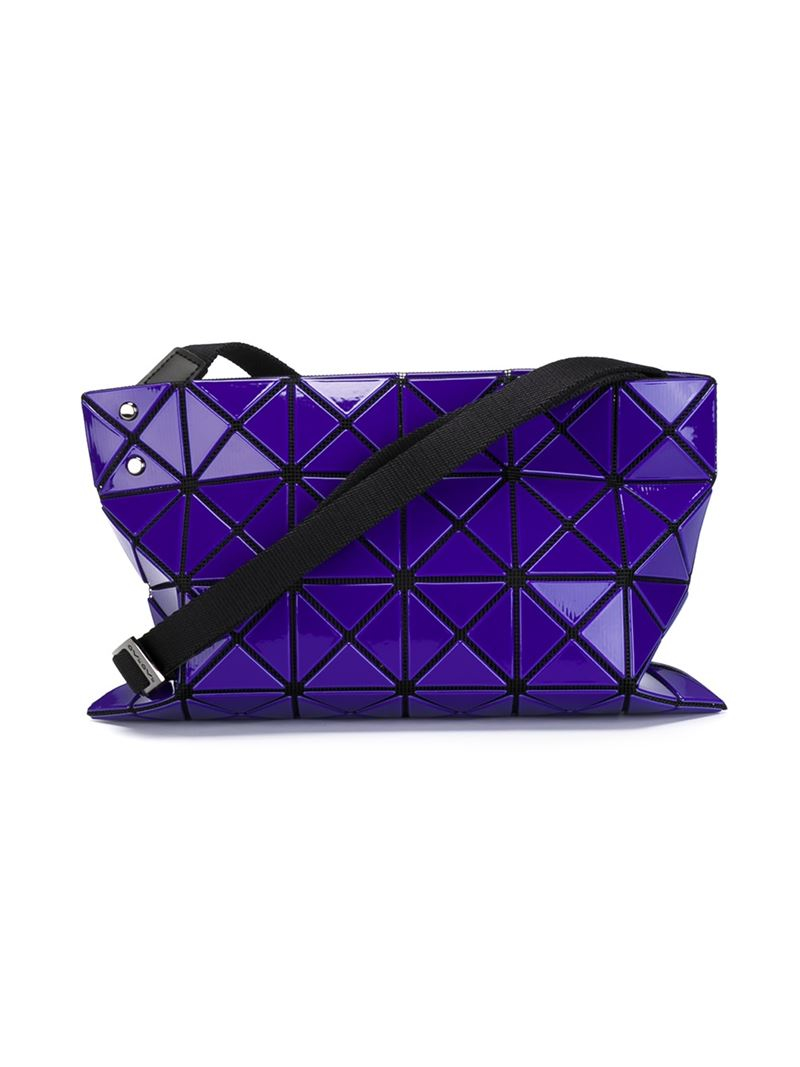 Bao Bao Issey Miyake 'Lucent Basic' Crossbody Bag in Pink & Purple (Blue)