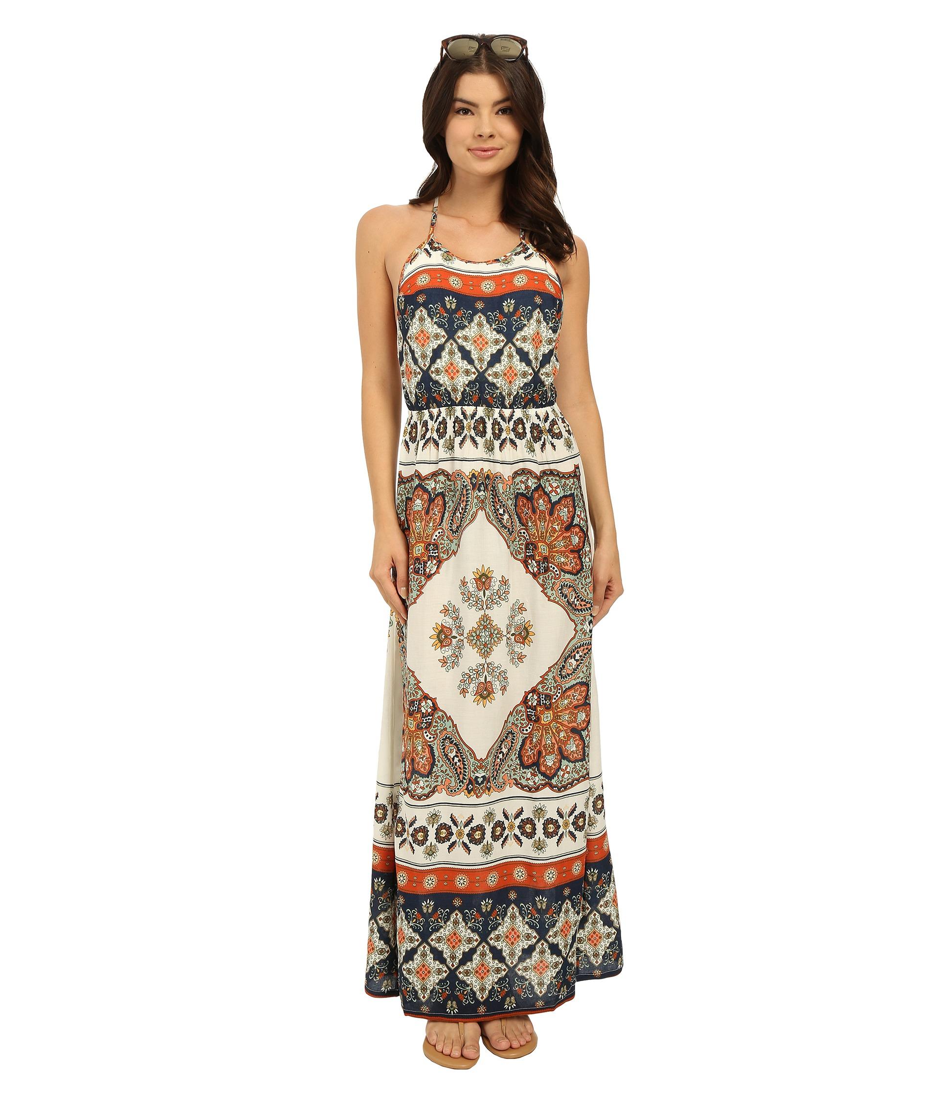 Roxy Summer Fleet Dress in Natural - Lyst