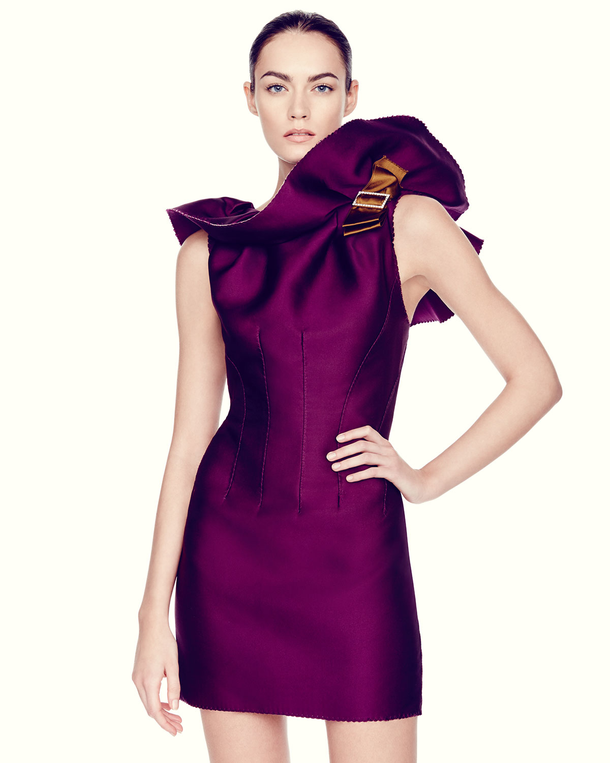 Buy Cheap With Credit Card Lanvin long ruffle dress Buy Cheap Low Shipping Sale Very Cheap Fashionable For Sale Cheap 100% Guaranteed ZNEEl92gn