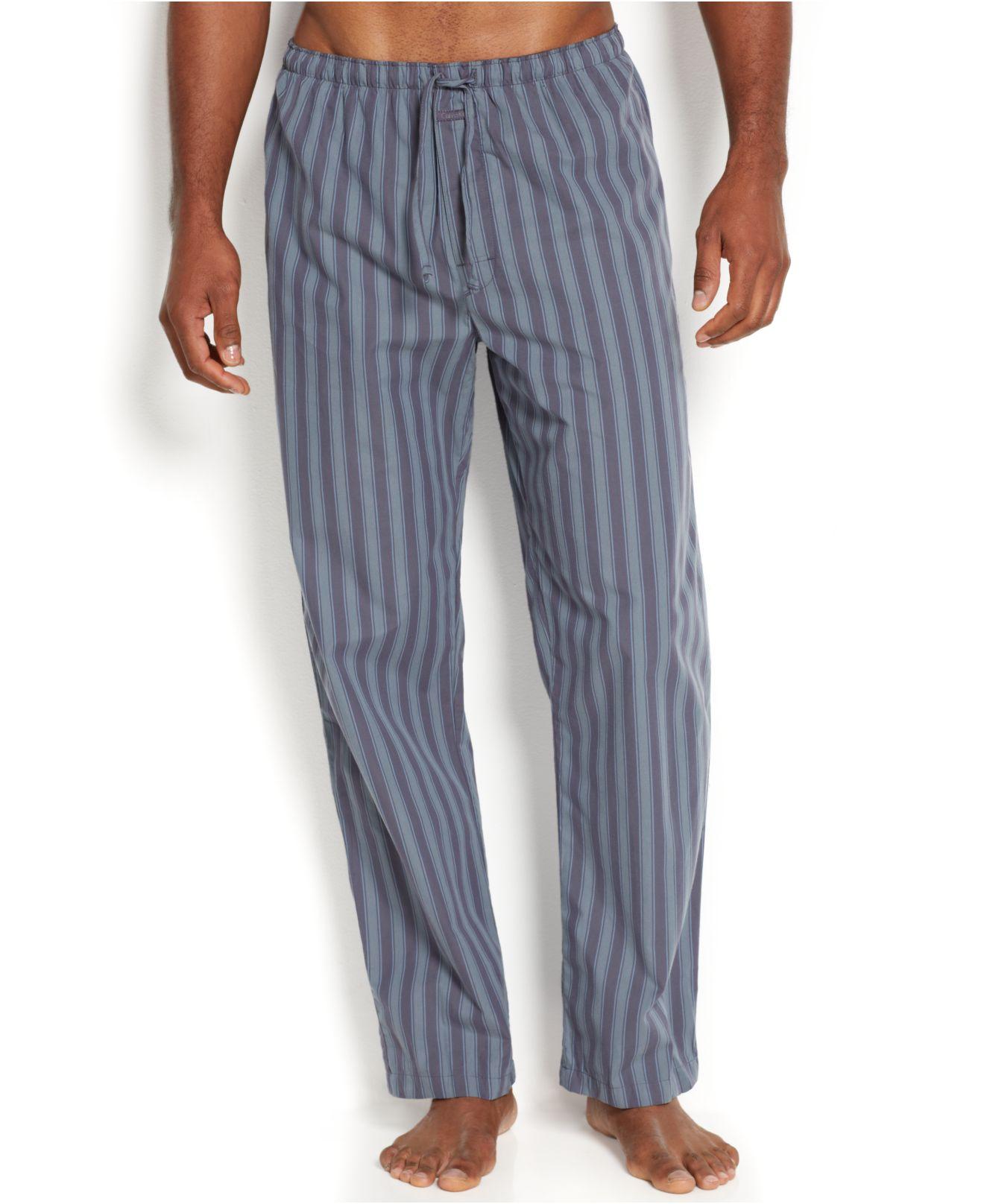 Lyst - Calvin Klein Men S Striped Pajama Pants U1726 for Men 9a0ceb45c