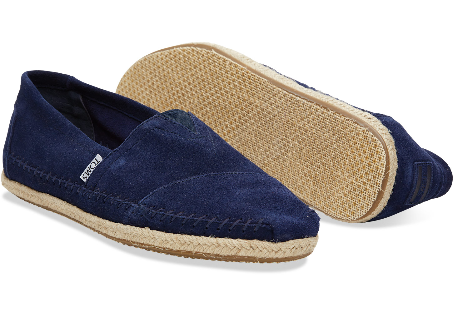 aa8b52c73fc TOMS Navy Suede Rope Sole Men's Classics in Blue for Men - Lyst