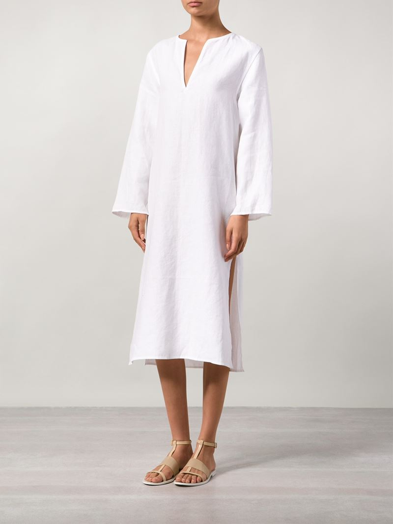 Denis colomb Long Tunic Dress in White | Lyst