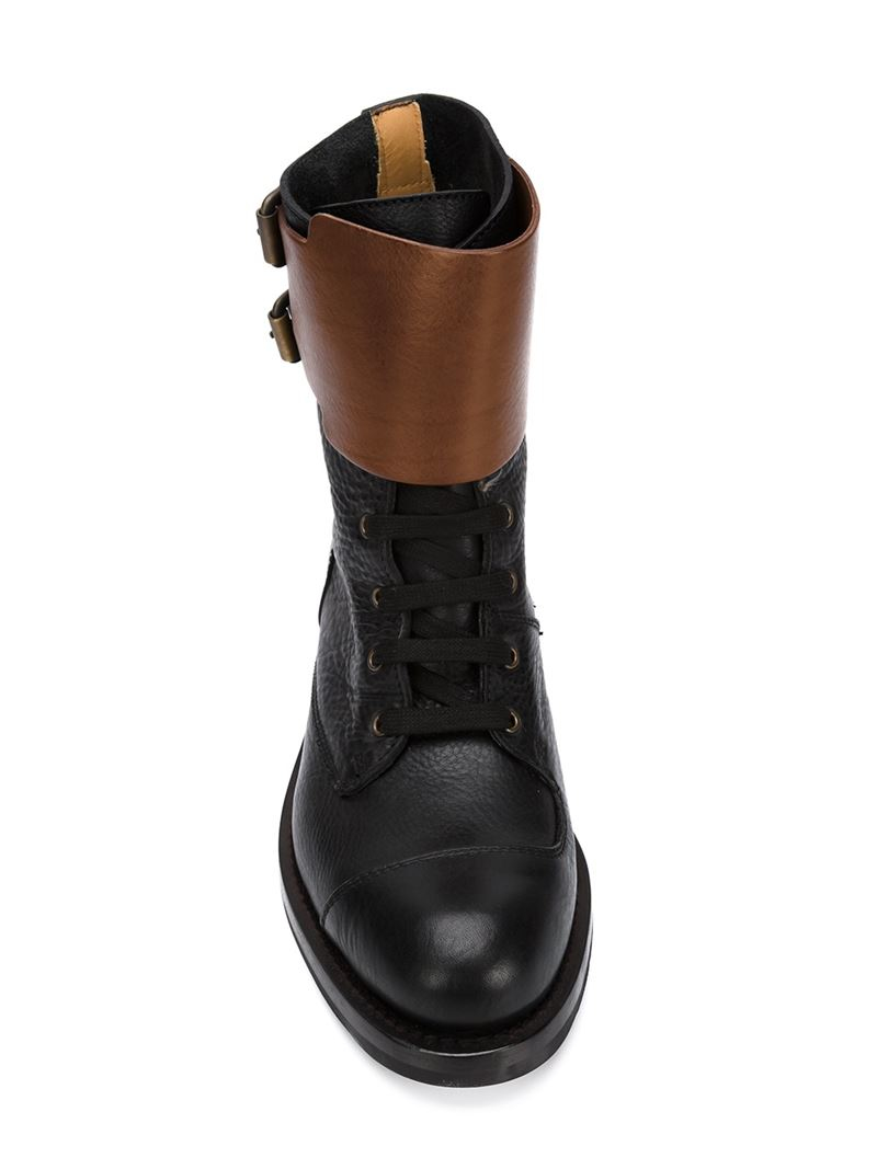 Vivienne Westwood Double Buckle Boots In Black For Men Lyst