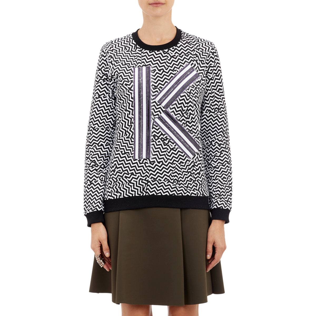 Lyst kenzo women 39 s broken floor print sweatshirt in black for Floor print