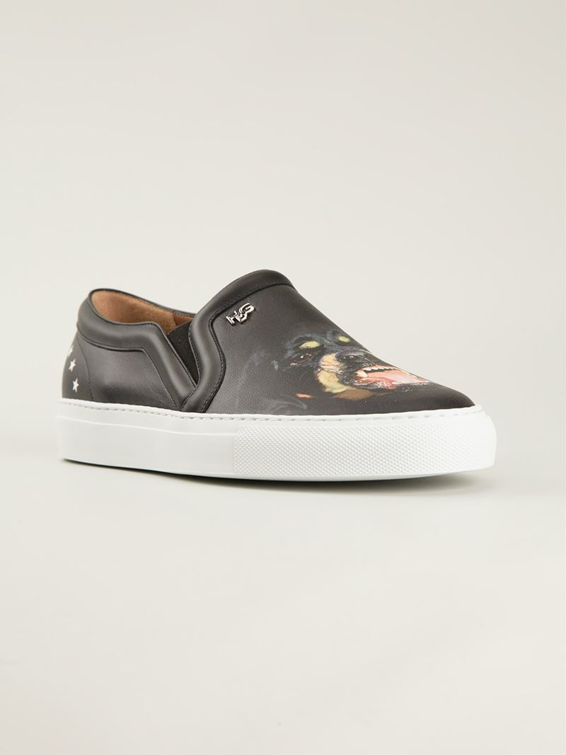 Givenchy Black Leather Rottweiler Skate Shoes
